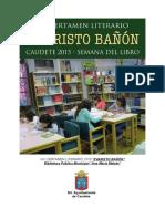 "XIX Certamen Literario ""Evaristo Bañón""  Caudete 2015"