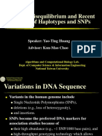 Linkage Disequilibrium and Recent Studies of Haplotypes and SNPs