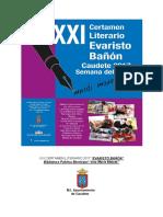 "XXI Certamen Literario ""Evaristo Bañón""  Caudete 2017"