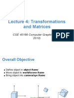 Lecture 4 Transformations and Matrices
