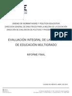 Evaluación de la Política de Educación Multigrado. Informe Final.