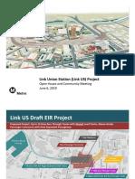 Link Union Station Open House Presentation