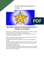 Significado de Tetragramatón y Como Activarlo