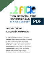 42 Festival Internacional de Cine Independiente de Elche. Sección Oficial. Animación. Fundación Caja Mediterráneo