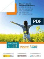 2013 Report of Proyecto Hombre Observatory ADDICCTION