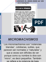 Presentación Segundo Taller, Patriarcado, Micromachismo, Misoginia y Violencias de Género