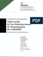 Manual de Operaciones Subestaciones CADAFE.pdf