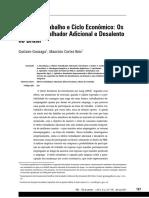 Gonzagay, Gustavo; Reis, Mauricio Cortez - Oferta de Trabalho e Ciclo Econômico Os Efeitos Trabalhador Adicional e Desalento no Brasil.pdf