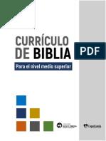 Currículo para la Clase de Biblia en nivel medio superior