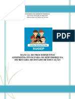 Manual de Procdimentos Administrativos SUGEP