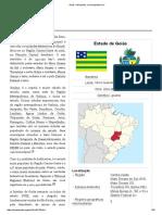 Goiás – Estado Brasileiro.