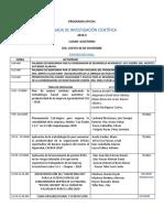 Programa Jornada Chepen 2018 2