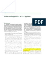 Water Management Irrigation 5 Yr Plan