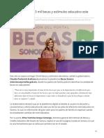 20-06-2019 Prevén entregar 53 mil becas y estímulos educativo este 2019 en Sonora-Expreso