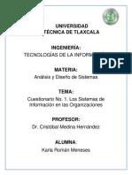 Cuestionario Cristobal