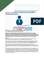 Sume Cheltuite in Interesul Asociatilor. Tratament Fiscal