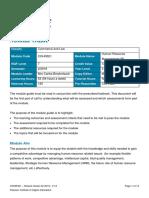 COHR321 Module Guide S2 2019