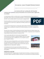 16-06-2019 Galería Con 42 de avance nuevo Hospital General estará listo en 2021-ESDH