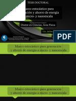 Marco estocástico para generación y ahorro de energía a micro- y nano-escala (J.I. Peña Roselló)