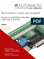Manual Interface Placa Controladora CNC Mach3 5 Eixos via Porta Paralela DB25 Pinos