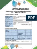 Guía de Actividades y Rúbrica de Evaluación - Tarea 4 - Estimación de Modelos