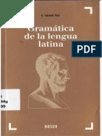 Eduardo Valenti Fiol - Gramática de La Lengua Latina -Bosch, Casa Editorial (1999)