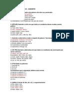 ACENTUAÇÃO GRÁFICA - Gabarito