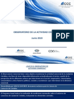 Informe Evolución Comercial Junio 2019
