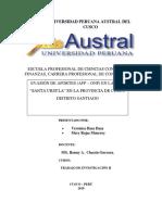 Trabajo de Investigacion II - 2019-1