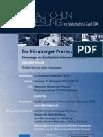 """""""Die Nürnberger Prozesse. Erinnerungen des Simultandolmetschers Siegfried Ramler"""" - Eine Lesung mit Siegfried Ramler im historischen Saal 600 in Nürnberg"""