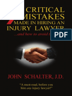 7 critical mistakes made in hiring an injury lawyer