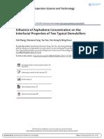 La Concentración de Asfaltenos en Las Propiedades Interfaciales