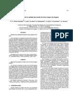 Estudio de la calidad del aceite de oliva virgen de Aragón