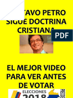 Gustavo Petro Practica El Cristianismo