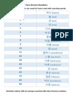 Pure Korean Number