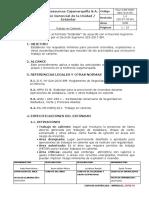 PGU CJM SSM SEG 014 ES Estandar Trabajo Caliente