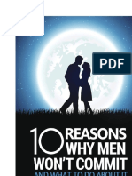 10 Reasons Why Men Won't Commit - How To respark the Romance