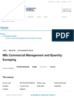 MSc Commercial Management and Quantity Surveying _ Heriot-Watt University 48k