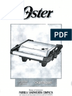 Manual de Instrucciones Parillera Oster CKSTPA2880 Español