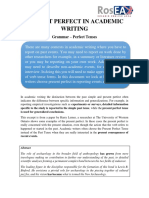 Present Perfect in Academic Writing