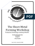 Sheet Metal Forming Workshop