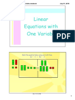 linear equations with one variable