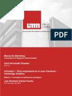 Actividad 1. Ética Empresarial en El Caso Facebook - Cambridge Analítica