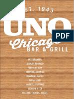 Proyecto Pizzería Uno Chicago Bar & Grill en Lima Perù