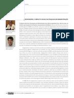 Ciência Responsável e Impacto Social Da Pesquisa Em Administração