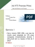 Ayudantía N°5 Finanzas Minas