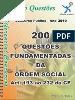 1733_DA ORDEM SOCIAL- Art. 193 Ao 232 Da CF - Apostila Amostra