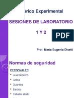 teorico experimental - sesiones de laboratorio