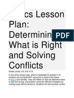 Ethics Lesson Plan