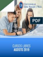 Cursos Libres Agosto 2019